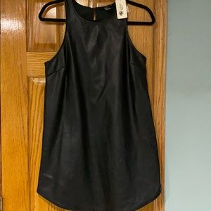 Black pleated leather dress!